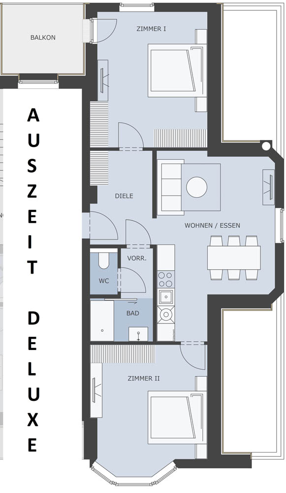 Layout Apartment Auszeit Deluxe on the Second Floor